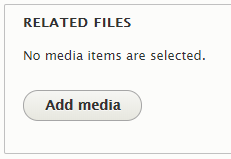 Screenshot of related files field