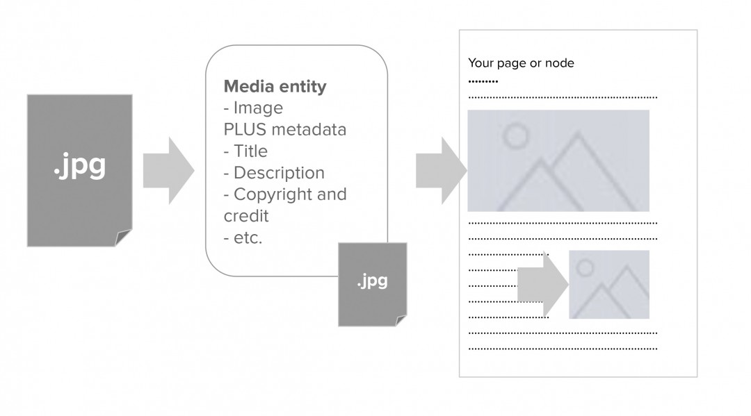 Diagram of a file embed using media view modes.
